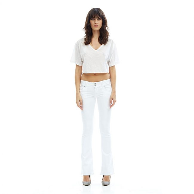 Hudson Signature White Bootcut Jeans