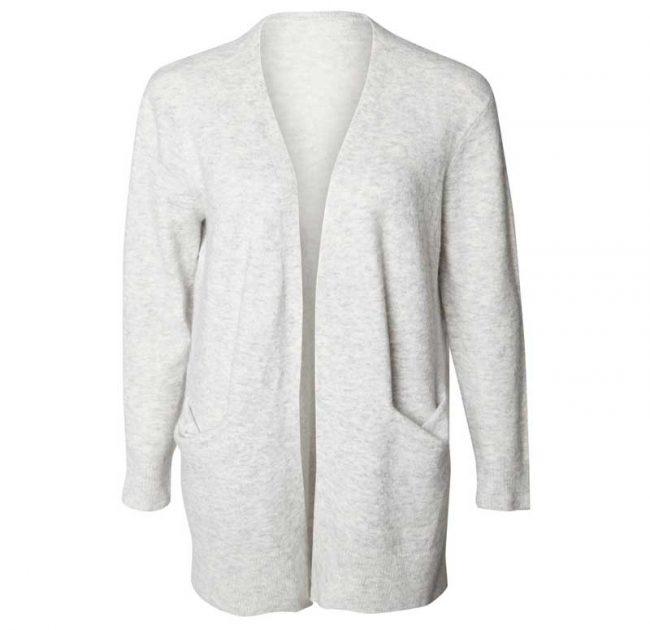 longline grey cardigan
