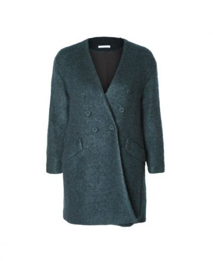 long dark green coat