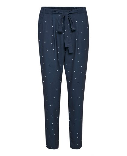 Kaffe Kisser Navy Spotty Trousers