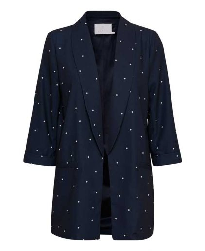 Kaffe Kisser Navy Spotty Blazer