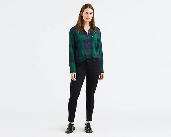 Levi's 711 Skinny black jeans