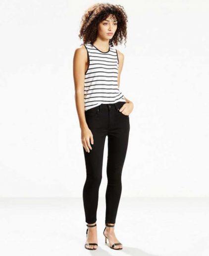 Levi's 721 Hi Rise Skinny Black jeans