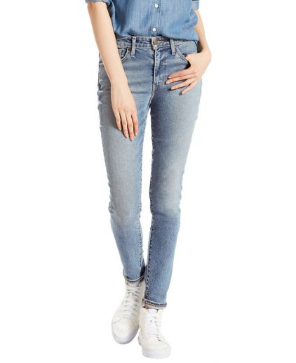 Vintage feel light wash high rise skinny jeans
