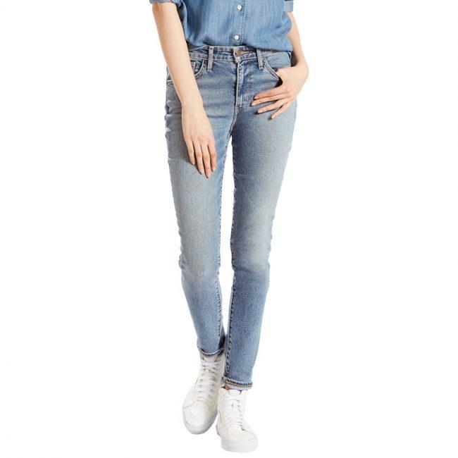 Vintage feel light wash high rise skinny jeans