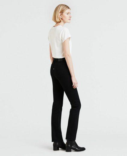 High Rise Black Straight Leg Jeans
