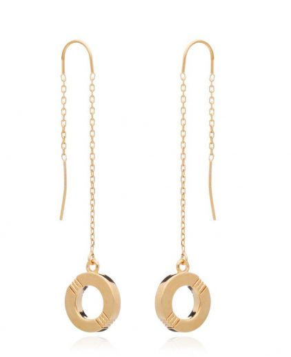 Cabbage White Infinity Gold Drop ear rings
