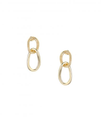 Double drop gold plated ear-rings