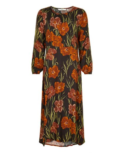 Numph Floral Print Maxi Dress