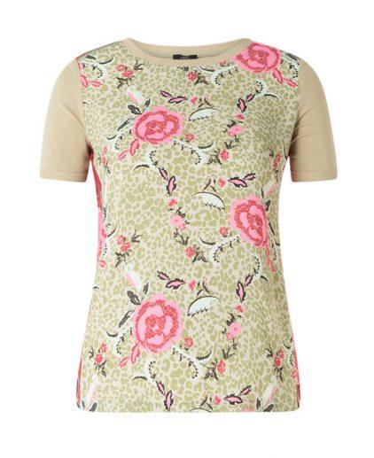 Yest green/pink print t.shirt 39306