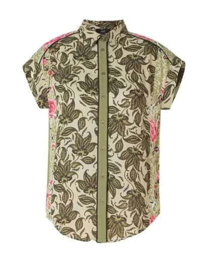 Yest Olive print top 39307