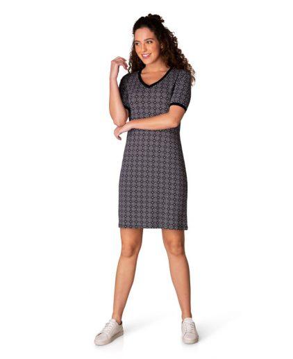 Yest black/white print dress 39389