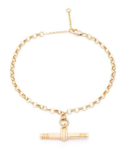 Cabbage White Infinity T. Bar Bracelet Gold