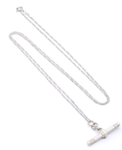 Cabbage White Silver T.Bar necklace