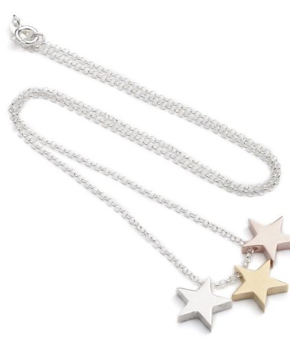 Cabbage White Three Star Necklace