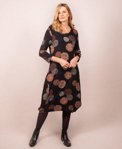 Capri Allium Copper Print dress ALM02DRS