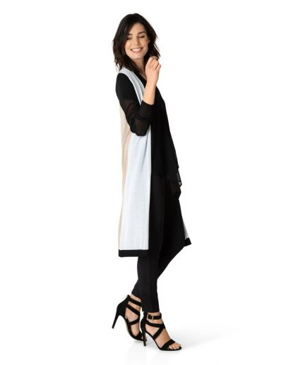 Block colour sheer lightweight cardigan
