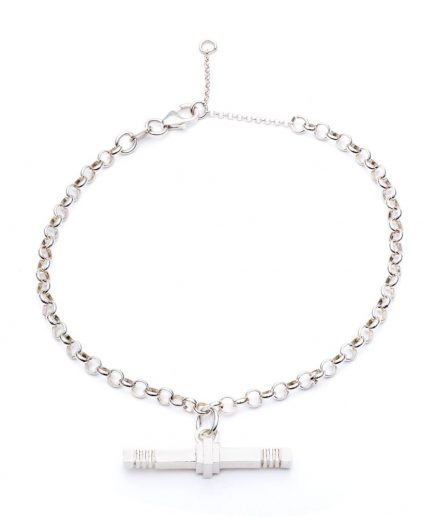 Cabbage White Silver T.Bar bracelet