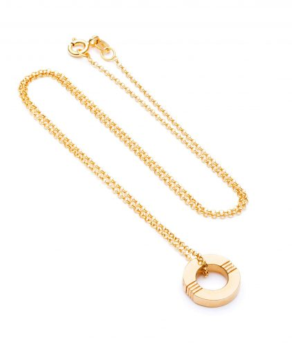 Cabbage White Infinity Gold Necklace