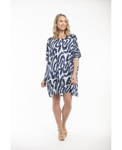 Blue & White Kaftan
