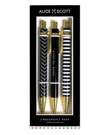Alice Scott Set of 3 Ballpoint Pens