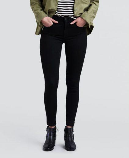 High Rise Super Skinny Black Jeans