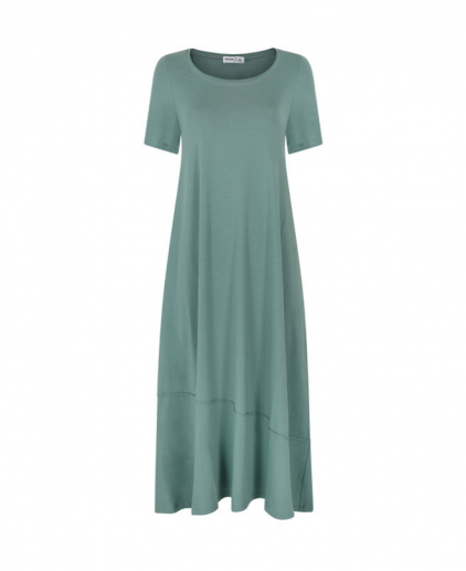 Sage green cotton jersey dress