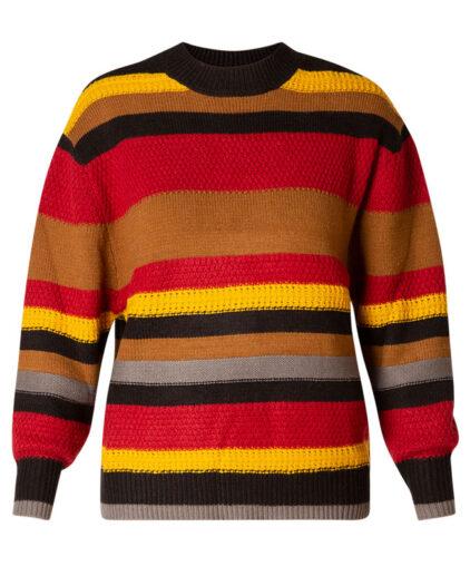 Wool free colourblock chunky jumper