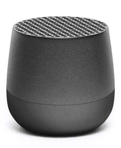 Dark grey rechargeable bluetooth speaker